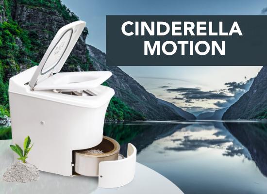 Cinderella Motion forbrenningstoalett